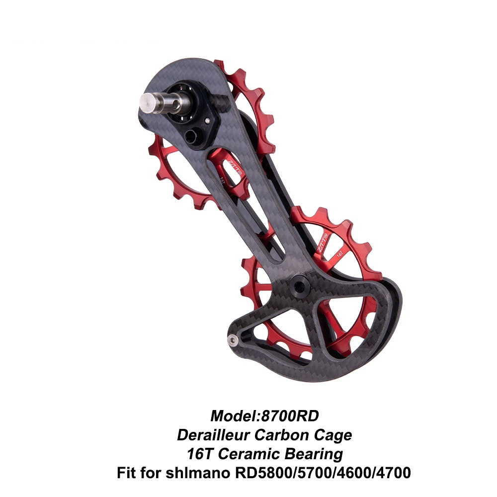 16T Road Bike Carbon Rear Derailleur Ceramic Jockey Wheel Oversize Lower Pulley For <font><b>Shimano</b></font> Dura-Ace R5800 5700 4600 4700 <font><b>105</b></font> image