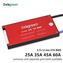 21 s 20a 30a 40a 50a 60a 72 v pcm/pwb/bms porta comum para 3.7 v lincm bateria bloco 18650 lithion ion bateria proteção placa