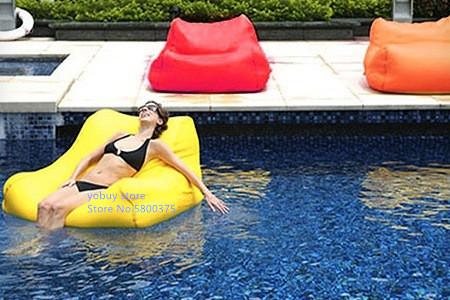 Large Size Water Floating Bean Bag Chair Made Of 420D Oxford-PVC Material 15