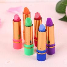 Moda popular estilo 6 pc/lotes de cor batom colorlong longa duração lábio forro tubo borboleta mudança cor batom