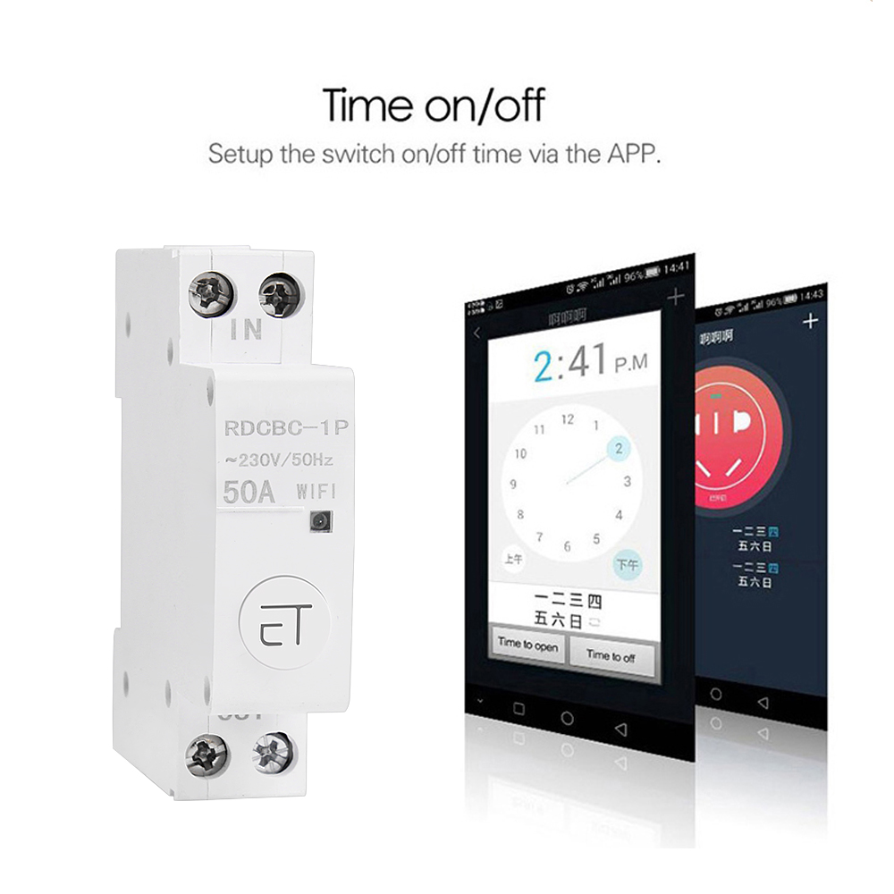 eWelink 1P WiFi remote control circuit breakerSmart din rail switch compatiable with amazon Alexa and google home for Smart Home 5