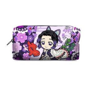 Image 5 - Kimetsu No Yaiba Demon Slayer Kamado Tanjirou Nezuko Cosplay Pen Pencil Case Cosmetic Makeup stationery Bag Gift