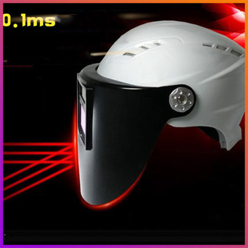 ABS Automatic Photoelectric Welding Mask Matched White Helmet Hard Hat Lens Anti-mite Protection Eye Safety Helmet Model H8899-1