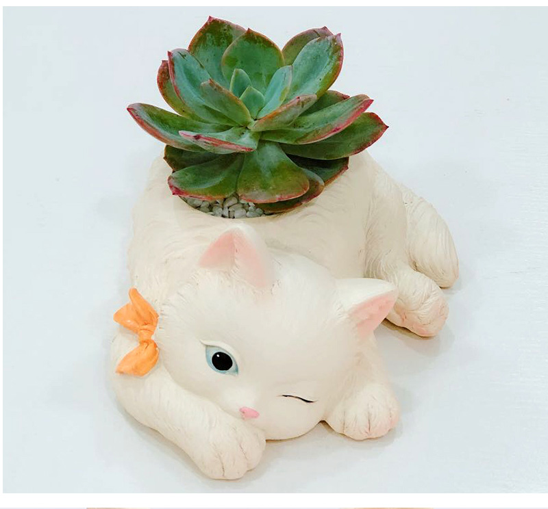 Kawaii Cat Bonsai Flower Pot Ceramics Succulent Plant Potted