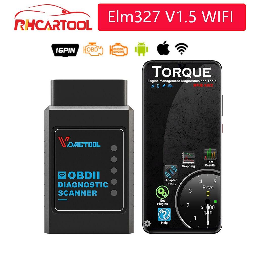 OBD2 ELM327 V1.5 WIFI IOS адаптер Сканер для iPhone автомобильный диагностический инструмент OBD 2 ELM 327 WIFI ODB2 Автомобильный сканер EML327 WIFI
