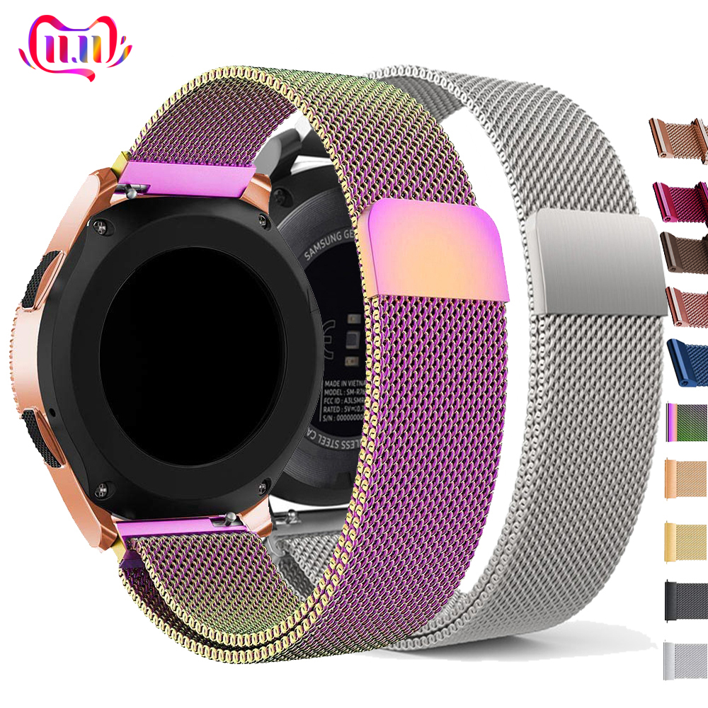 22mm Watch Band For Samsung Galaxy Watch 46mm 42mm Active 2 Gear S3 Frontier Strap Milanese Amazfit Bip Huawei Watch GT Strap 20