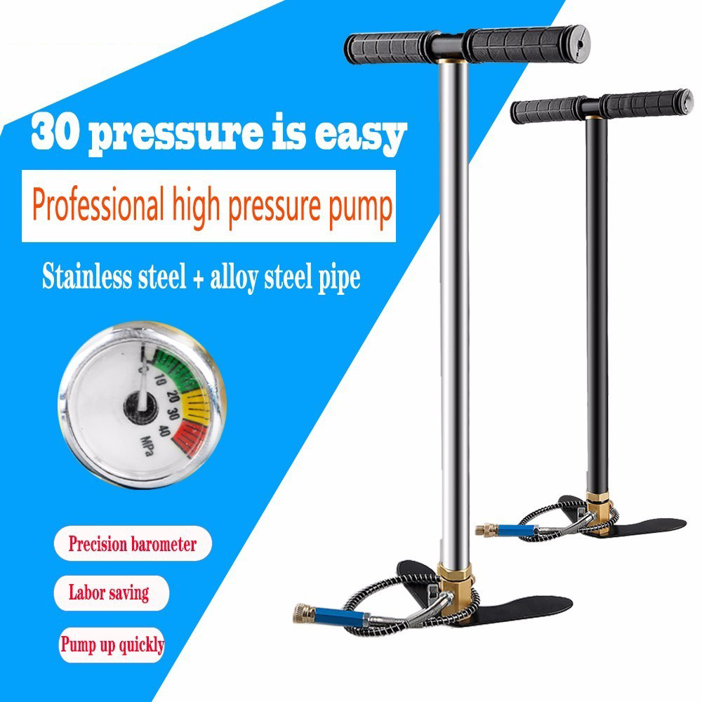 300bar 30mpa 4500psi 3 Stage Mini High Pressure Compressor , Hand Operated Pcp Pump For Air Pump Rifles Paintball Automobile