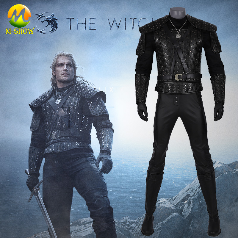 The Witcher Geralt de Rivia Cosplay Costume Halloween fantaisie Costumes pour hommes sauvage chasse The Witcher Cosplay Costume sur mesure