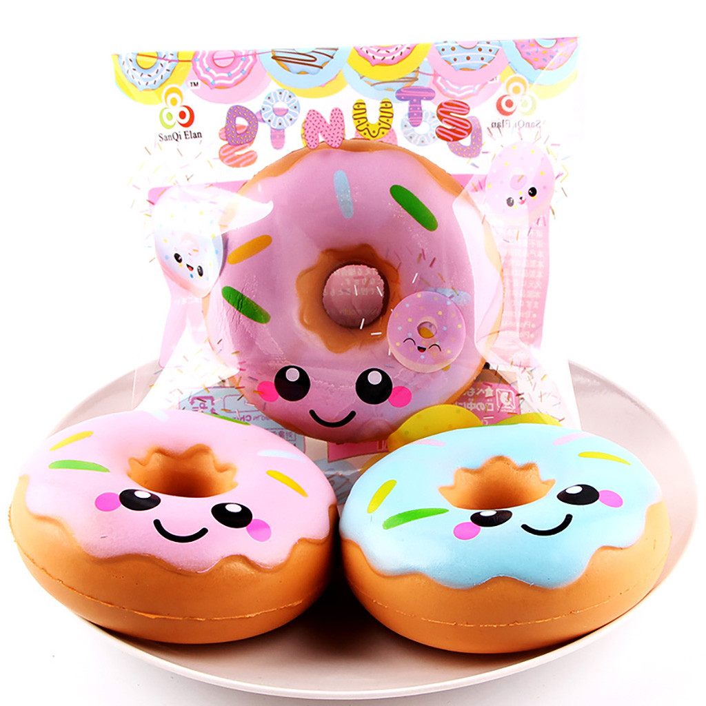 The New Smiley Face Slow Rebound Donut Simulated Food Decompression Toy For Kids Stress Relief Funny Gift Toy L1224