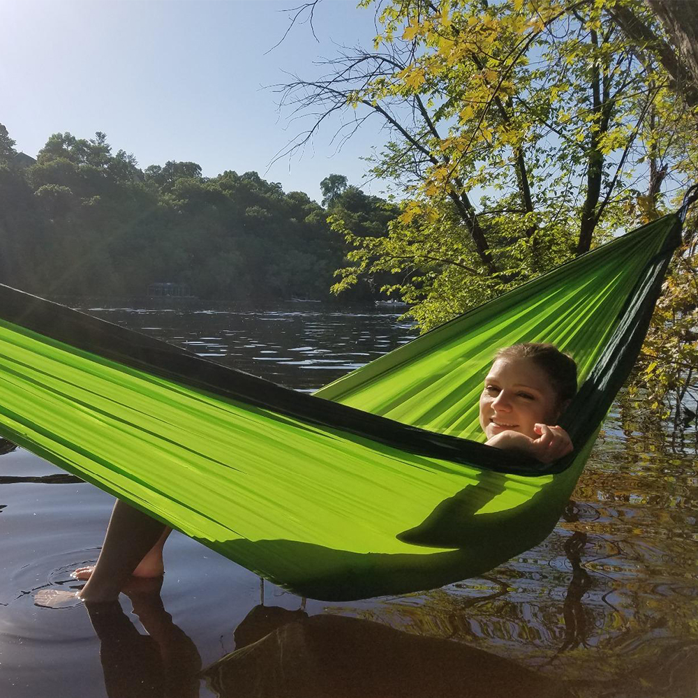 Ultralight Travel Double Hammock Hanging Portable Bed Hamock Rede De Camping Parachute Hammock Chair Outdoor Swing for Children(China)