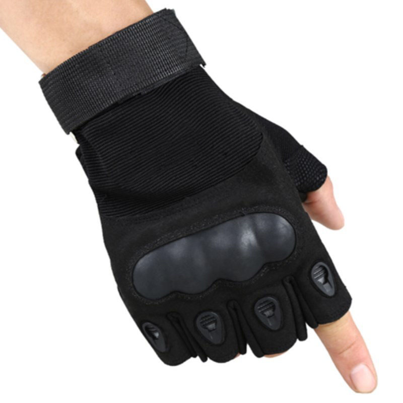 Heated Warm Thermal Military Forces Tactical Without Fingers Handschoenen Gloves Sticky Man Army Sitk Leather Sports Half Army