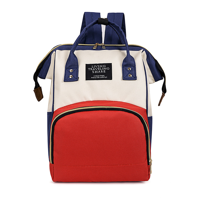 Korean-style Large-Volume Diaper Bag Mom And Baby Waterproof Oxford Fashion Backpack Multi-functional Nursing Pregnant Women Bag