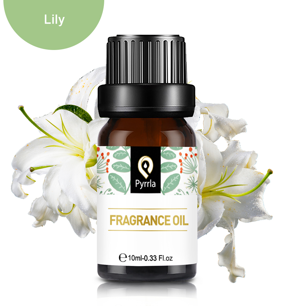 Pyrrla 10ml Lily Fragrance Oil For Aromatherapy Humidifier Rosemary Fresh Linen Freesia Natural Flower Plant Essential Oil Aroma