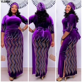 L-4XL de talla grande impresión vestido de fiesta africanos vestidos para las...