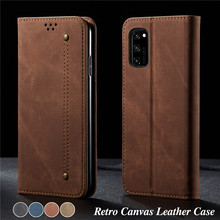Luxury Denim Leather Flip Case For Huawei Honor V30 Pro Magnetic Wallet Card Cover For Honor 8x/20/20i/20s/20 Lite/10i Cases Bag for huawei honor 20i honor 10i case cover nillkin pu leather flip case for huawei honor 20i honor 10i cover flip phone case