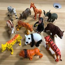 53 Pcs/set Simulation Wild Animal Model Toy Animal Lion Tiger Elephant Giraffe Doll Toys Novely Plastics Collection Toy For Kids