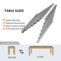 Cabinet folding table retractable track small household multi functional desk bar extension slide hardware accessories