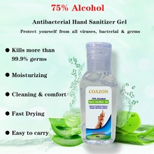 75% Alcohol Disposable Hand Sanitizer Quick-drying Hands-Free Water Disinfecting Hand Wash Gel 50ml