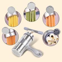 Нержавеющая сталь ручной лапши производитель бытовой пасты машина Presse Spaetzle производитель фруктов соковыжималка 5 различных 2шт формы