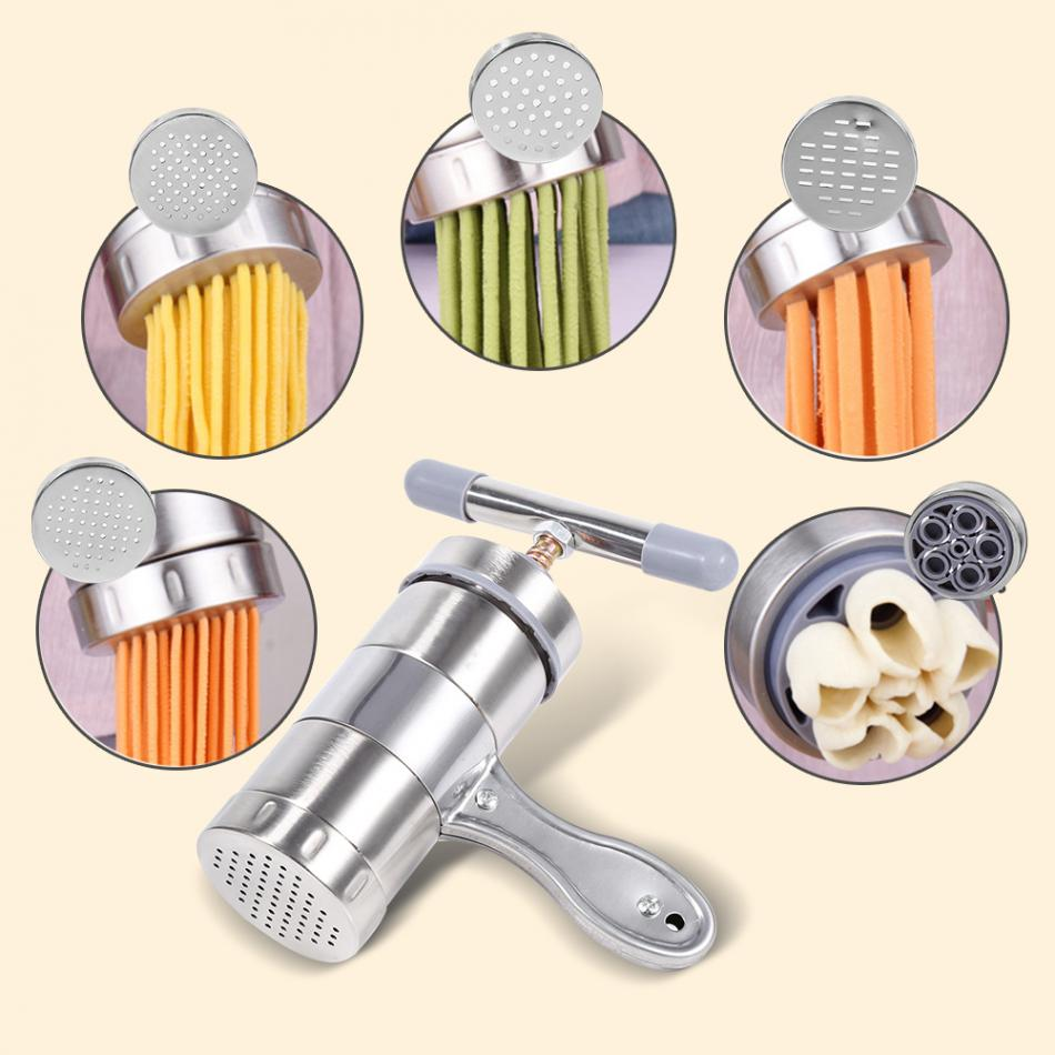 Stainless Steel Manual Noodle Maker Household Pastas Making Machine Presse Spaetzle Maker Fruits Juicer 5 Different 2pcs Molds image
