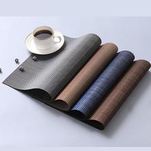 Japanese Style High-Grade PVC Placemat Brown Blue Gray Light Gold Home Kitchen Restaurant Decoration