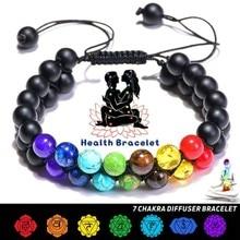 7 yoga oito planetas mala contas strand pulseira para homens mulher artesanal energia de cura solar chakra pulseira presentes natal