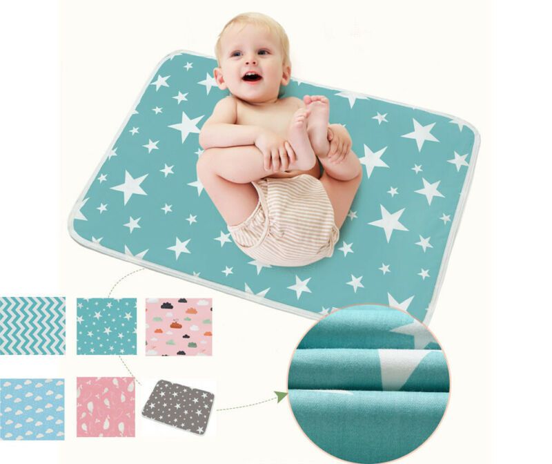 2020 Cute Baby Mattress Waterproof Avoid Bedwetting Crib Fitted Sheets 100%Cotton 50*70cm Bed Nursey Bedding Baby Changing Table