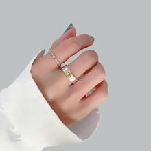 Shanice venta al por mayor abierto anillo de plata esterlina 925 con sonrisa Retro con regalo de boda pará mujer chica a la moda