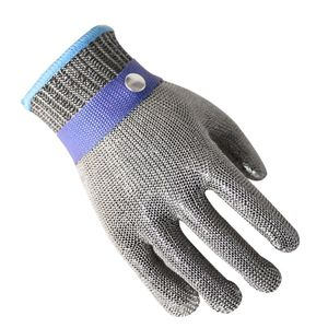 Image 2 - New 1 Pcs Cut Resistant Stainless Steel Gloves Working Safety Gloves Metal Mesh Anti Cutting For Butcher Worker