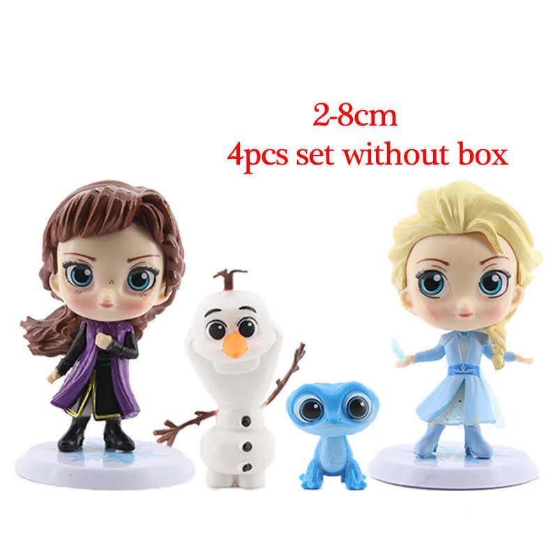 דיסני קפוא 2 מלכת שלג אלזה אנה PVC פעולה דמויות אולף Kristoff סוון אנימה בובות צלמיות ילדים צעצועים לילדים מתנות
