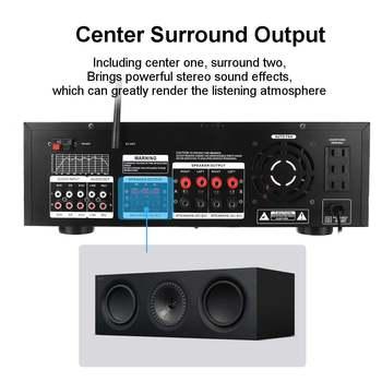 Усилитель мощности SUNBUCK AV-999BT, 7-канальный, Bluetooth, FM, USB, SD 5