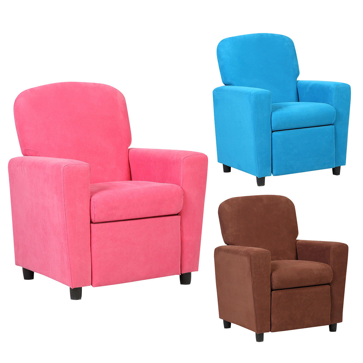 Costway Kids Recliner Sofa Armrest Chair Couch Lounge Children Living Room Furniture