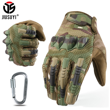 Multicam Tactical Military Full Finger Gloves Army Paintball Airsoft Combat Touch Screen Rubber Protective Glove Men Women New - discount item  35% OFF Gloves & Mittens