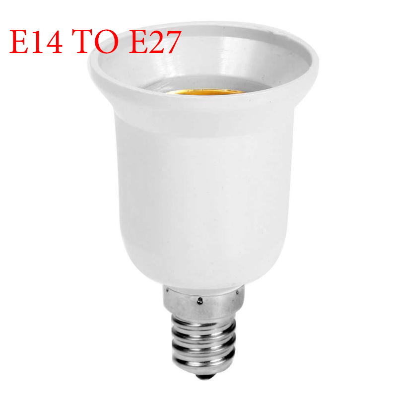 Converter E14 TO E27 Adapter Conversion Socket Fireproof Socket Lamp Holder High Quality Material Fireproof Socket Adapter