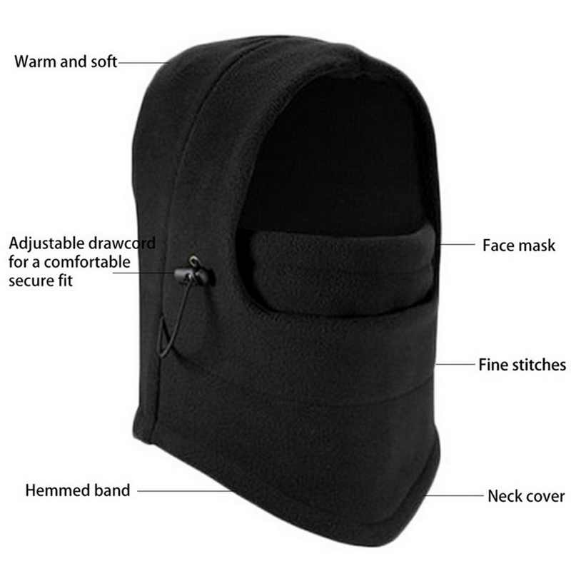 Fashion Musim Dingin 6 In 1 Hangat Balaclava Wajah Leher Hat Hood Masker Helm 2020 New Fashion Riding Olahraga Topi