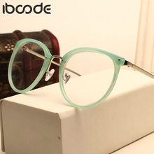iboode Fashion Optical Glasses Transparent Lens Myopia Eyeglasses Women Vintage Metal Spectacles Womens Designer Eyeglass Frames