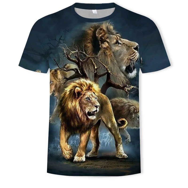 Mannen T-shirts 3D Gedrukt Animal Tiger T-shirt Korte Mouwen Grappig Ontwerp Casual Tops Tees Man Halloween T-shirt aziatische Sz 6XL