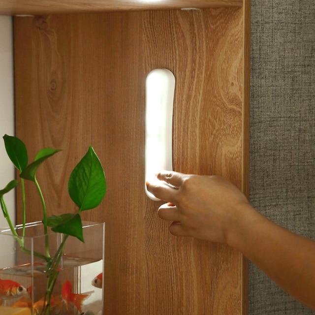 Japonia bezprzewodowa lampka nocna LED oświetlenie podszafkowe szafa szafa lampa kuchenna Push lampka reagująca na dotyk Stick On zasilany z baterii