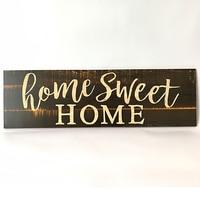 Door Rectangle Letter Pattern Ornament Desktop Home Decor Wall Rustic DIY Durable Wood Sign|Plaques & Signs|   -