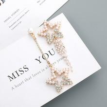Fashion Delicate Earrings Female Elegant Long Temperament Niche Pearl Earrings Irregular Stars Tassel Super Fairy Earrings цена