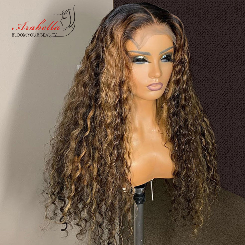 Deep Wave Closure Wig 100%  Wigs With Baby Hair Lace Frontal Wig Arabella  Lace Closure Wig Deep Curly 1
