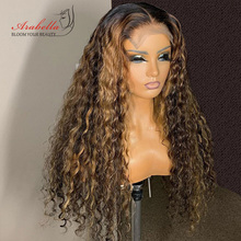Deep Wave Closure Wig 100% Human Hair Wigs With Baby Hair Lace Frontal Wig Arabella Remy Lace Closure Wig Deep Curly