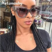 Metomoshy Newest Cat Eye Sunglasses Women Brand Designer Resin Lens Sun Glasses for Women Fashion Sunglass Vintage oculos UV400 oreka fashion nylon resin lens uv400 protection sunglasses black