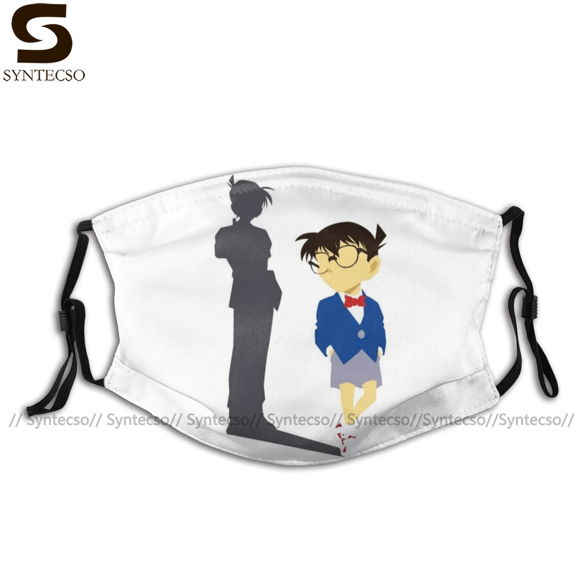 Detective Conan Mouth Face Mask Detective Conan Shadow Of Shinichi Kudo Facial Mask Fashion Cool With 2 Filters For Adult