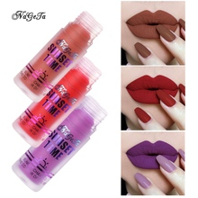 цены на 2019 Waterproof Sexy Matte Velvet Liquid Lipstick Set Glossy Lip Gloss Lip Balm Red Brown Lip Tint Women Fashion Makeup  в интернет-магазинах