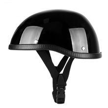 Мотоциклетный шлем немецкий кожаный винтажный Ретро с открытым
