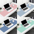 PU Leather Desk Pad Mouse Pad Portable Large Gaming Mouse Pad Suede Desk Mat Computer Laptop Mousepad Keyboard Anti-Slip Pad