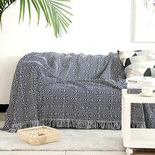 Boho super king size sofá envoltórios cobertor de dupla face capa de xadrez para casa cobertor do bebê moletom 230x250cm