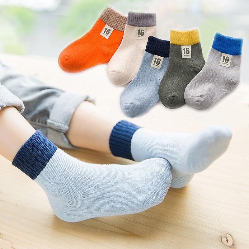 New Style CHILDRENS Socks Wide Stripe Cotton Socks Men And Women Childrens Socks Suture Baby Crew Socks