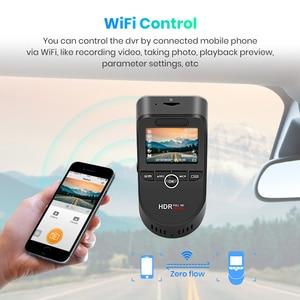 Image 2 - Junsun S590.P 24h park monitörü 4K WiFi GPS araba dvr Dash kamera 2160P gece görüş çift Lens araç kaydedici 1080P arka kamera